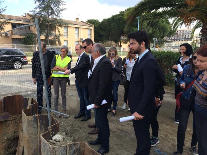 Visite des chantiers et grands travaux exutoires des Salines et des Cannes et de la Maison de quartier des Cannes