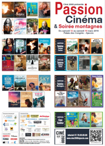 Festival Passion Cinéma 2016 du 12 au 19 mars au Palais des Congrès