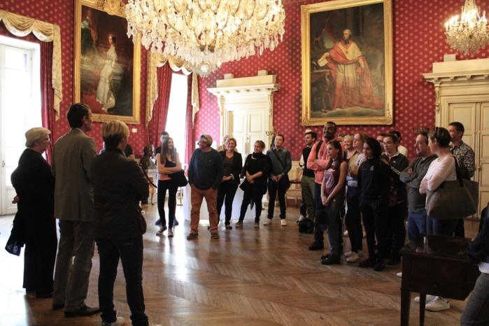 Récéption d'éducateurs et de jeunes Lyonnais