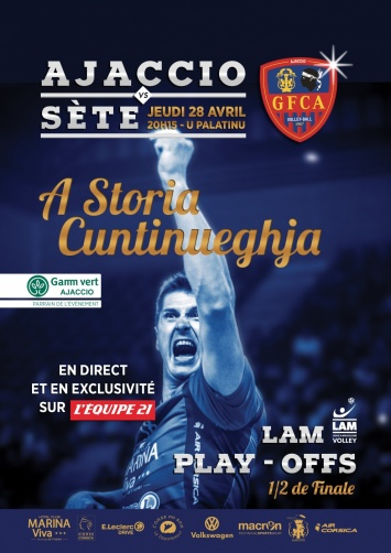 Volley play Off : GFCA / Sète Au Palatinu jeudi 28 avril