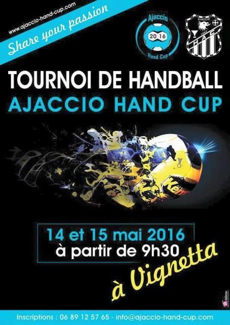 """Tournoi de Handball """"Ajaccio Hand Cup"""" 14 et 15 mai à Vigneta"""