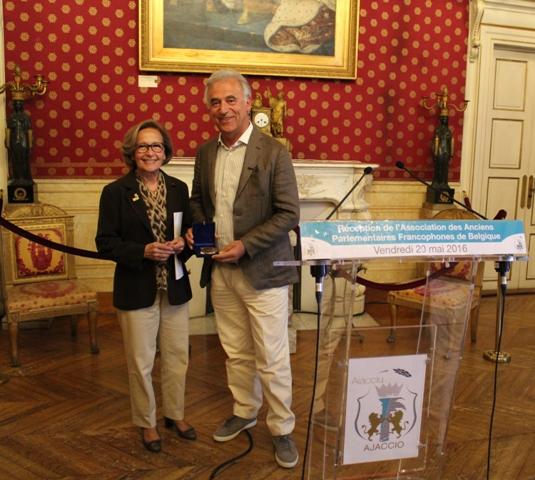 Visite de l'Association des Anciens Parlementaires Francophones de Belgique