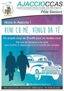 «Veni cù mè… Vengu da tè», le transport seniors à la carte du CCAS d'Ajaccio