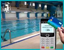 Modernisation des structures sportives - Suppression du paiement en numéraire et paiement par Carte Bleue disponible dans les piscines de la Ville.