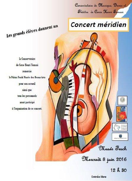 Concert méridien en partenariat avec le conservatoire Henri Tomasi