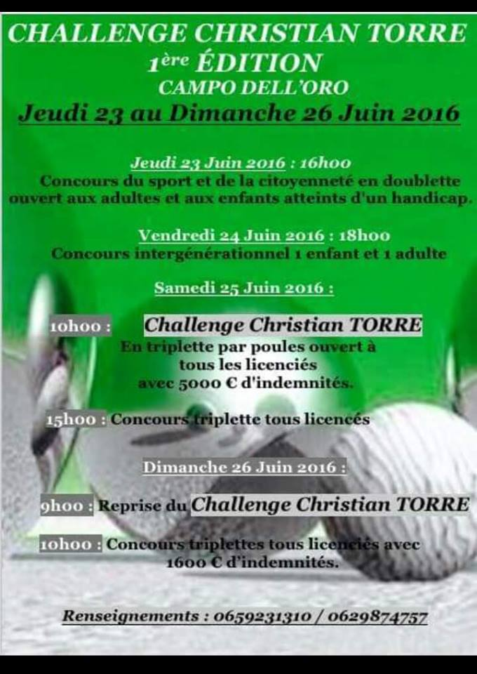 Challenge Christian Torre