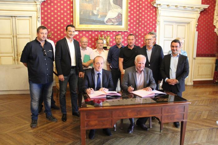 Signature de la Convention de partenariat entre la Ville d'Ajaccio et la Fédération du BTP