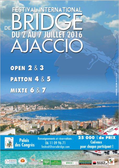 Festival international de Bridge du 2 au 7 juillet