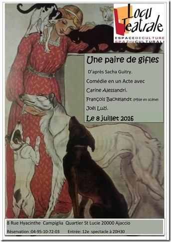 Comédie Une paire de gifles D'après Sacha Guitry à 20h30 à Locu teatrale