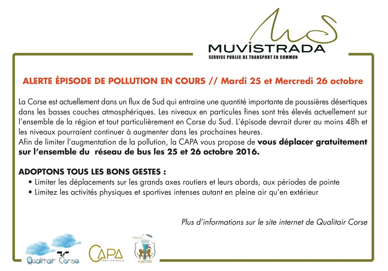 Episode de pollution en cours mardi 25 et mercredi 26 octobre