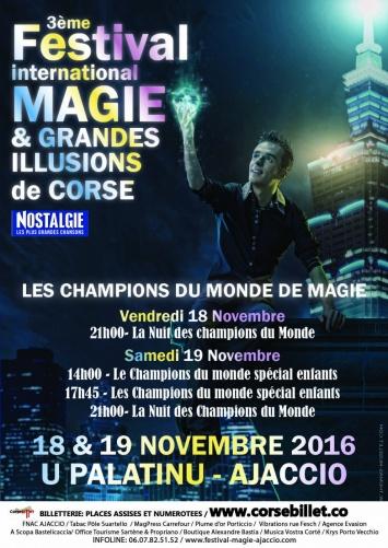 Festival International Magie et Grandes Illusions de Corse La nuit des Champions du Monde le 16 novembre au Palatinu
