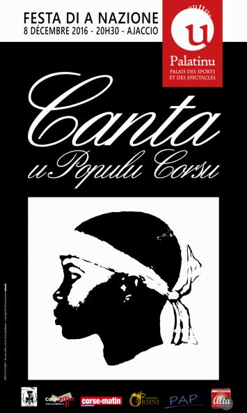 Festa di a Nazione Concert de Canta u Populu Corsu et ses invités le 8 decémbre 20h30 au Palatinu