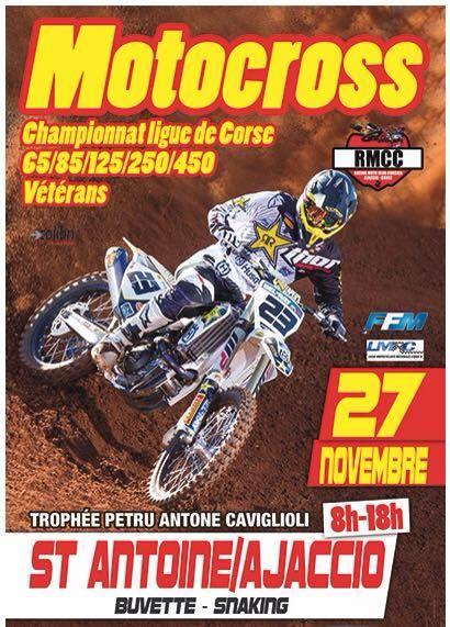 Motocross : Trophée Petru Antone Caviglioli le dimanche 27 novembre à Saint Antoine