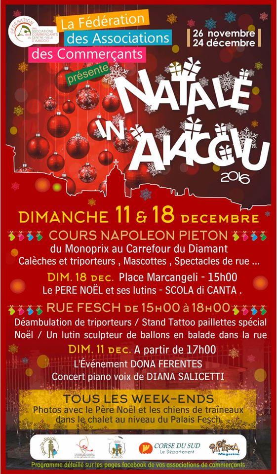 Les associations des commerçants du centre ville d'Ajaccio fêtent Noël avec vous