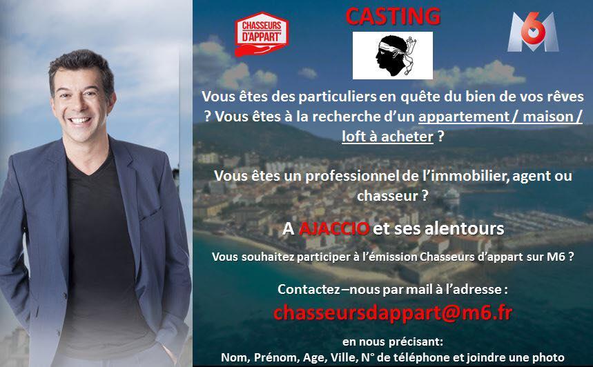 Casting Chasseurs d'appart Ajaccio et alentours
