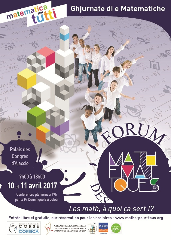 «Mathématiques pour tous» 10 et 11 Avril Palais des Congrès