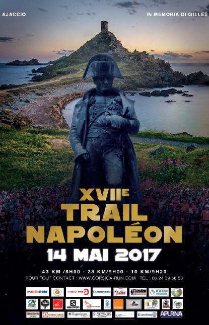 17 ème Trail Napoléon dimanche 14 mai Place du Casone