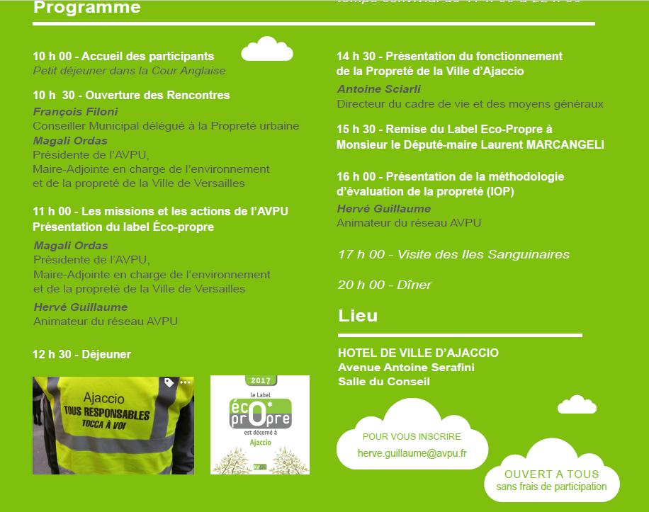 Les Rencontres régionales de l'AVPU mardi 23 mai et mercredi 24 mai à l'hôtel de Ville d'Ajaccio