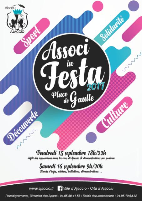 """""""Associ in Festa"""" la fête du sport et des associations, les 15 et 16 septembre"""