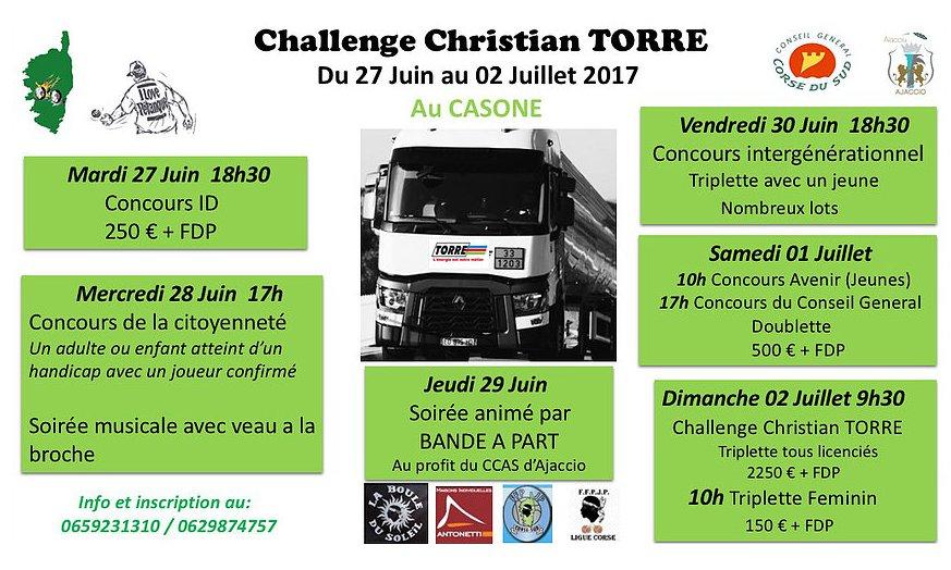 BOULE DU SOLEIL CHALLENGE Christian Torre