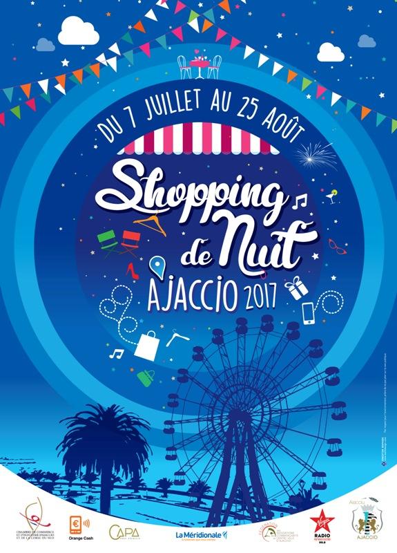 Ajaccio fait son Shopping de nuit du 7 juillet 25 août