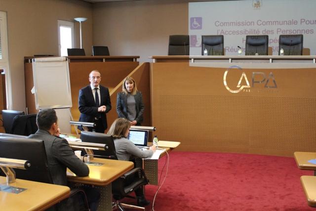 Réunion de la Commission Communale pour l'Accessibilité des Personnes Handicapées