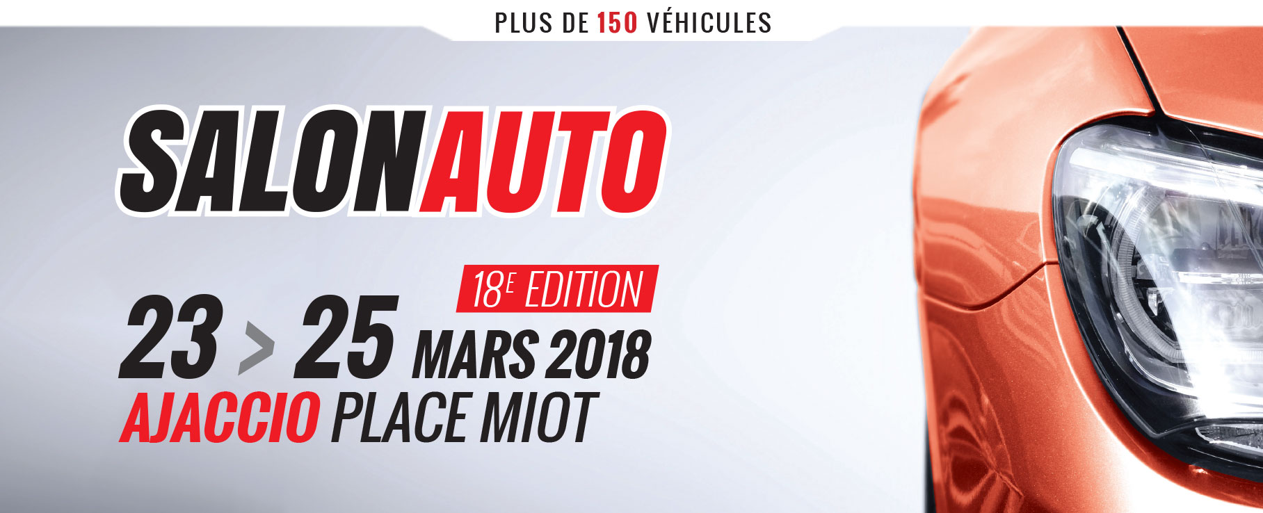 Salon Auto d'Ajaccio du 23 au 25 mars Place Miot