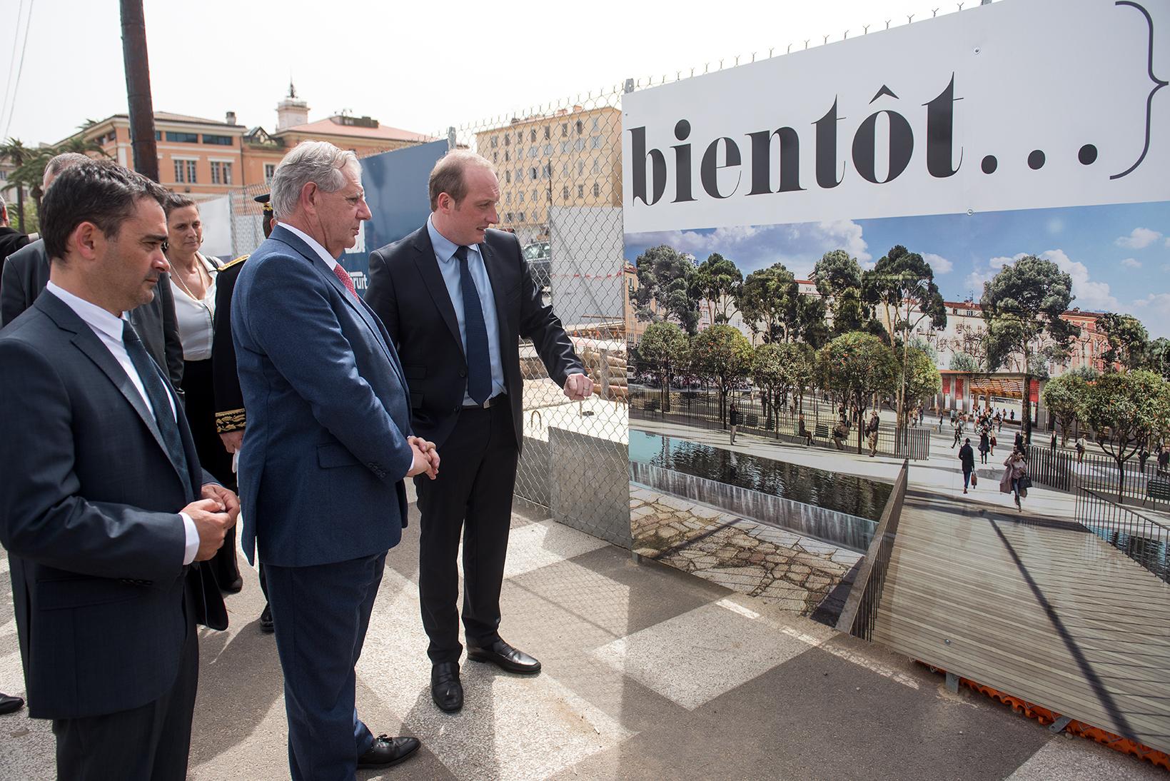 Visite du ministre de la Cohésion des Territoires, Jacques Mézard - Présentation du projet Action coeur de ville