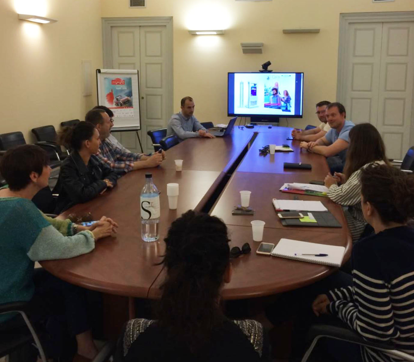 20 Avril 2018 à Ajaccio - Projet CIEVP - Réunion de travail pour le développement du contenu des bornes interactives