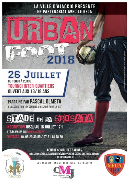 URBAN FOOT 2018 jeudi 26 juillet stade de la Sposata