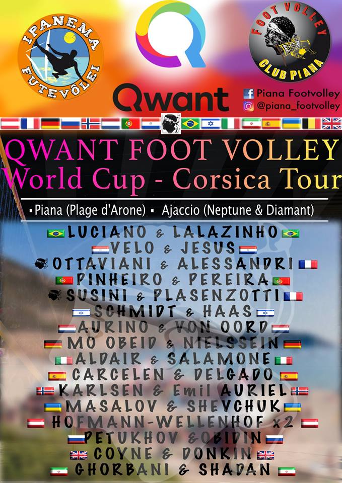 Qwant Foot Volley World Cup Corsica Tour 2018