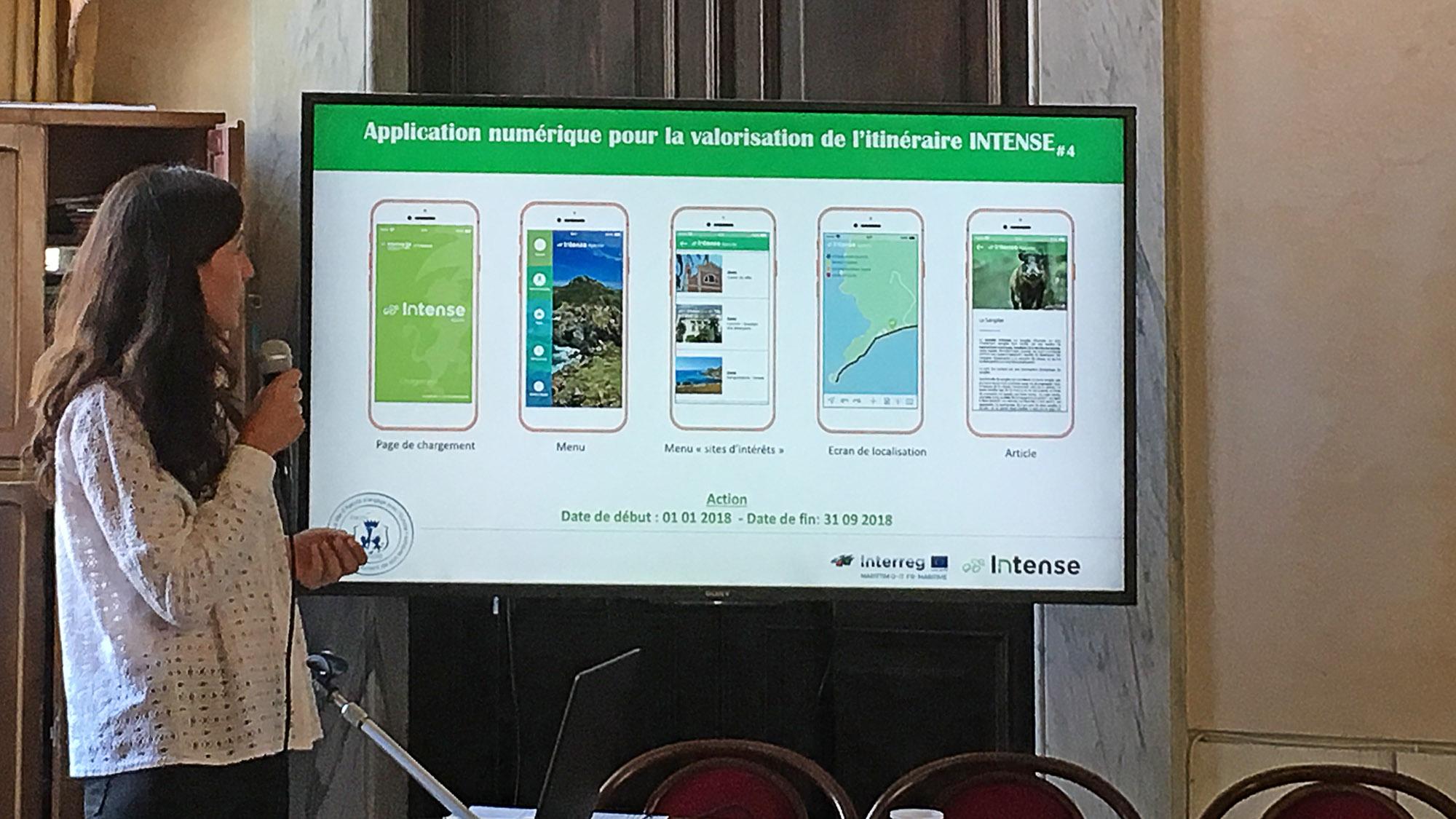 L'architecture de l'application dévoilée par Julie Padovani, chargée de Mission au sein de la DAEI
