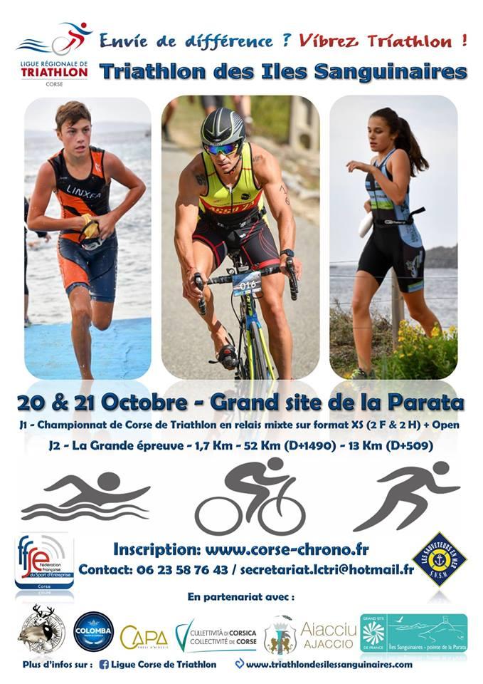 Triathlon des Iles Sanguinaires 20 et 21 octobre 2018