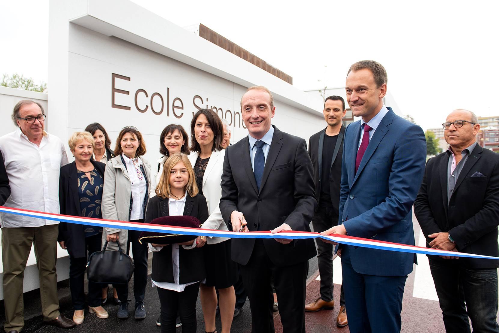 Inauguration de l'école Simone Veil, la plus moderne des écoles ajacciennes
