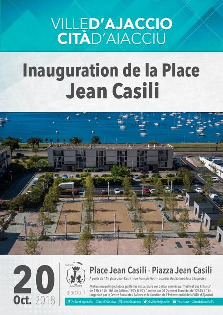 Inauguration de la place Jean Casili Samedi 20 octobre à 11h