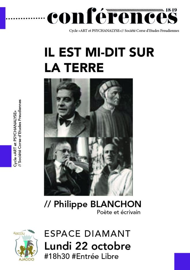 Conférence : Il est mi-dit sur la terre, par Philippe BLANCHON