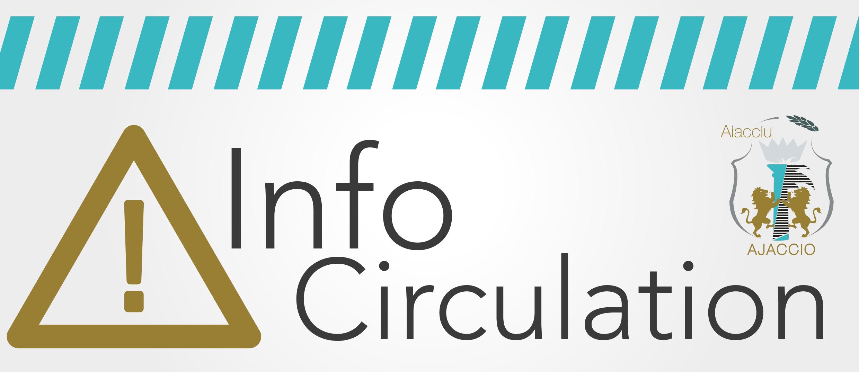 Réaménagement avenue Beverini Vico restriction du stationnement et de la circulation 10 au 31 janvier Rond point du Laetitia
