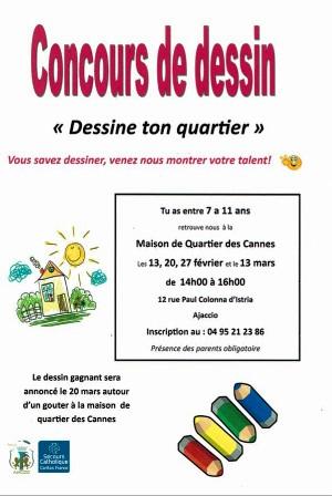 """""""Dessine ton quartier"""" à la Maison de Quartier des Cannes"""