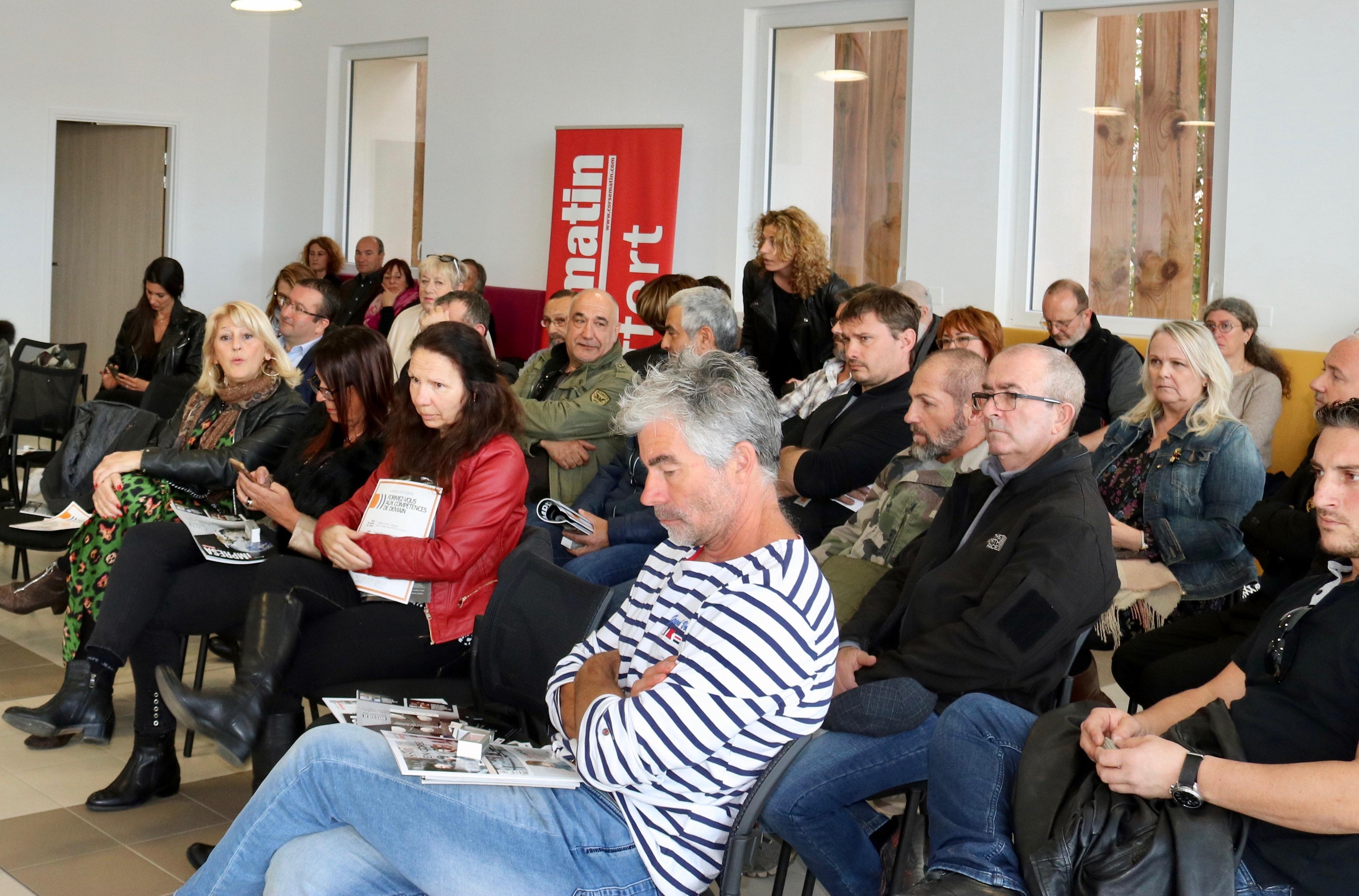 Les artisans ont participé en nombre au Débat Club de l'éco organisé par Corse-Matin ce jeudi.