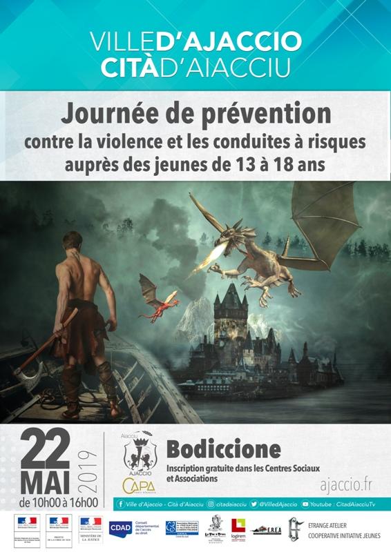 """Journée de prévention contre la violence et les conduites à risques le 22 Mai à partir de 10h sur """"Les Hauts de Bodiccione"""""""