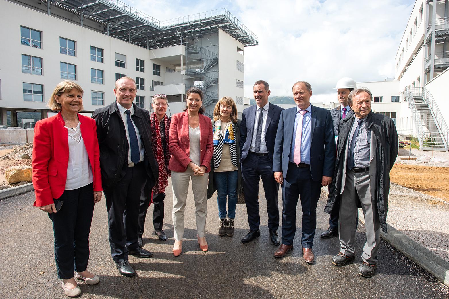 Visite ministérielle du futur hôpital d'Ajaccio