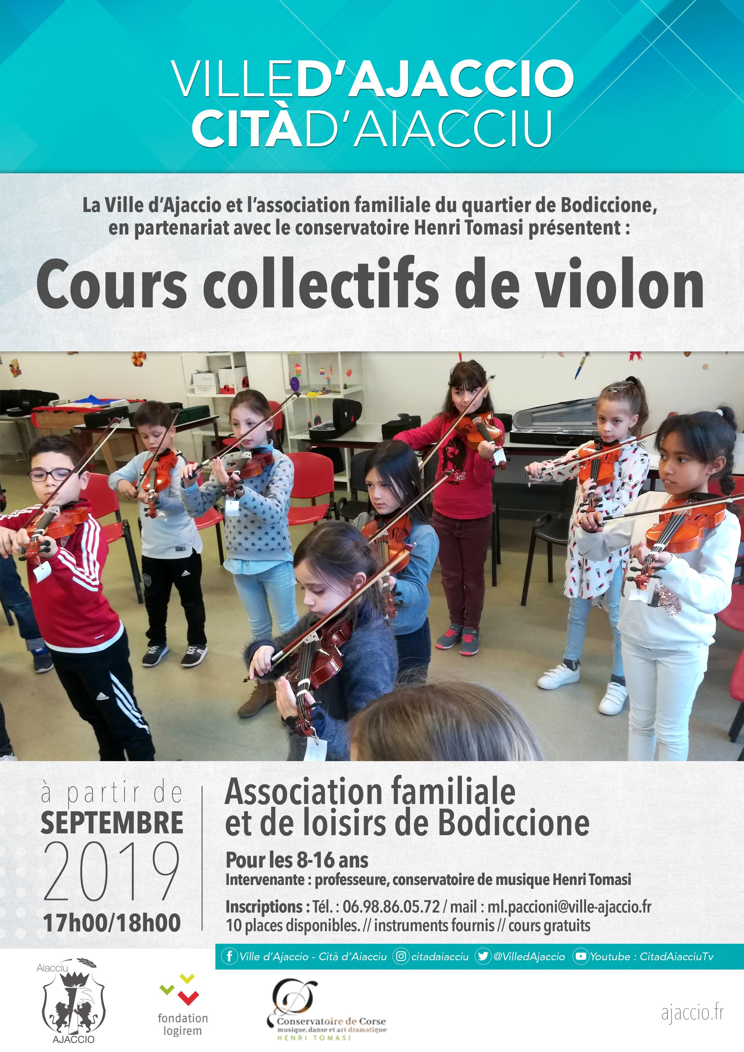 Cours collectifs de violon
