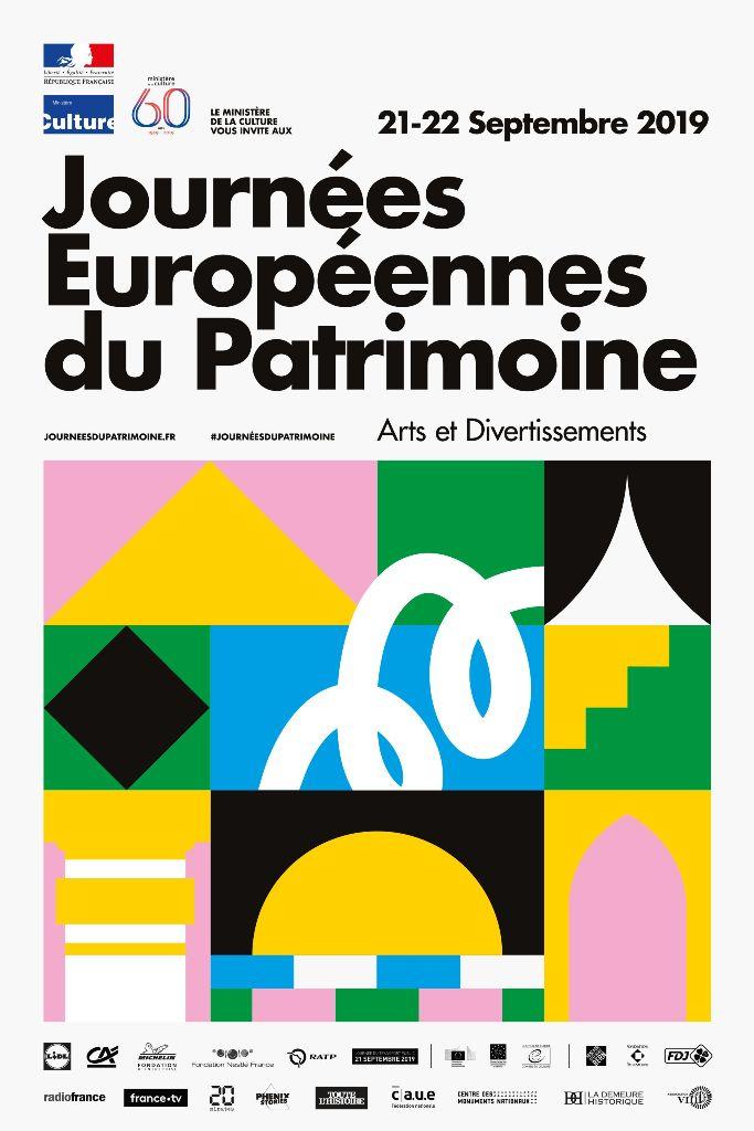 Journées européennes du patrimoine 21 et 22 septembre 2019