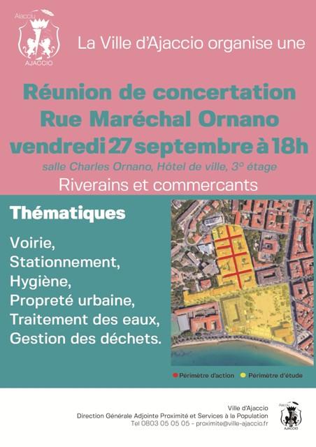 Concertation secteur Maréchal Ornano, Diamant et avenue de Paris, vendredi 27 septembre 18h