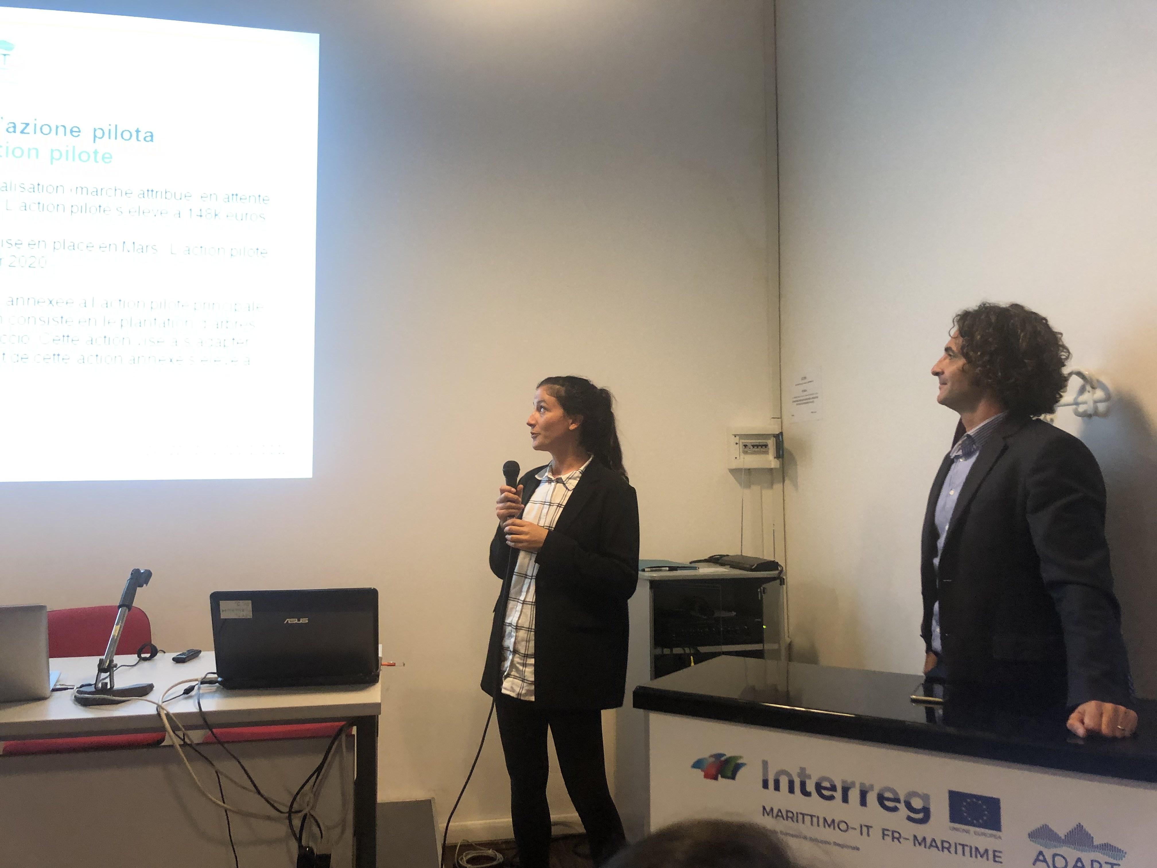Julie Padovani de la DAEI présente l'action pilote de la Ville d'Ajaccio