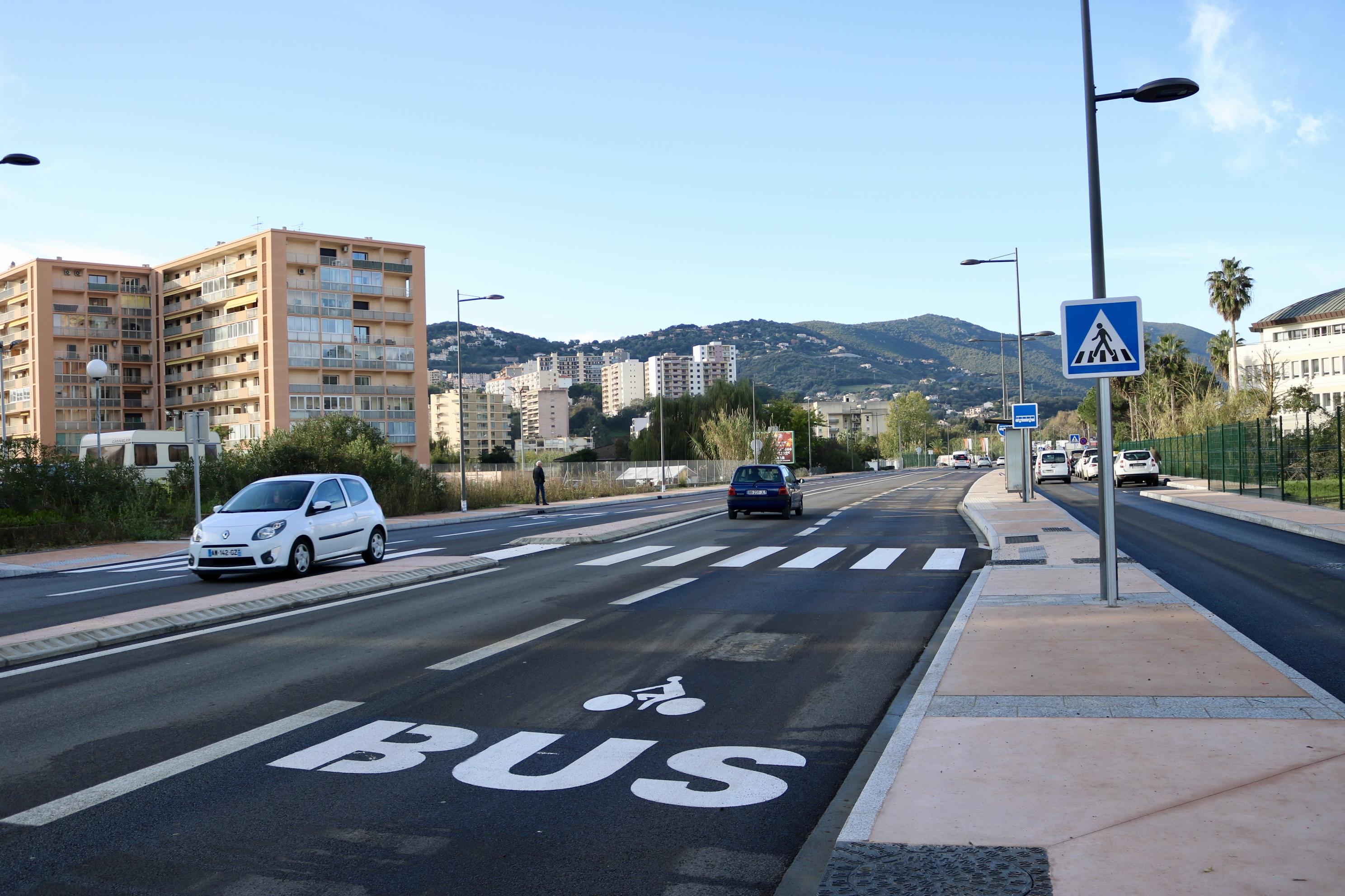 Plus d'une trentaine d'arbres et des massifs vont être plantés sur cette première portion de route (photo Ville d'Ajaccio).