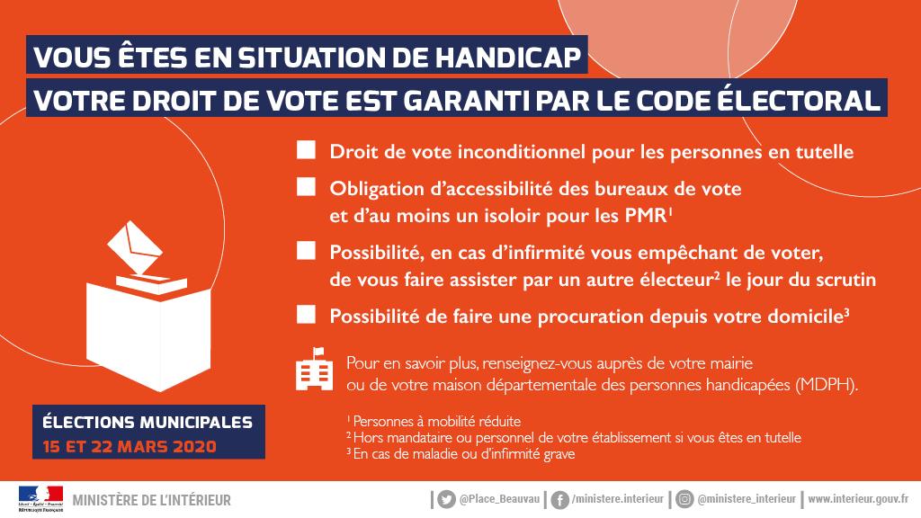 Conditions d'inscription sur les listes électorales 2020