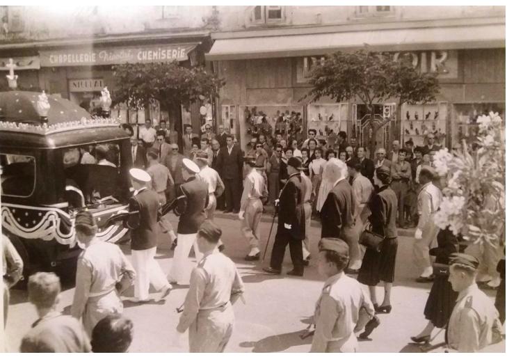 Transfert des cendres du père de Napoléon en 1951 par Lucien Aïqui.