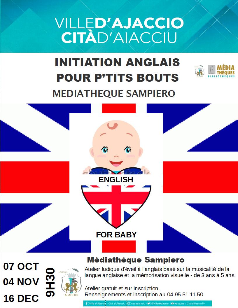 Ateliers d'initiation à l'anglais à la médiathèque Sampiero