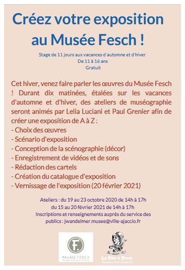 Ateliers de muséographie au Palais Fesch